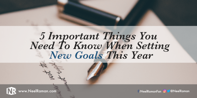Goal setting ideas for the new year