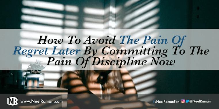 How to deal with the pain of discipline