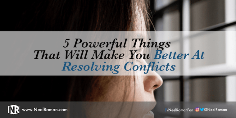 What to do to solve conflicts