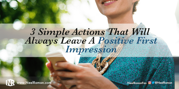 The importance of first impression
