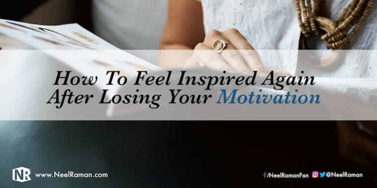 How to get motivated again
