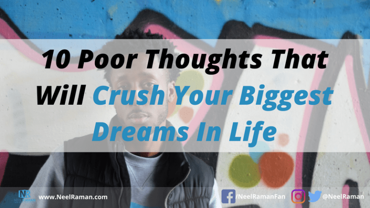 thoughts that can crush our dreams