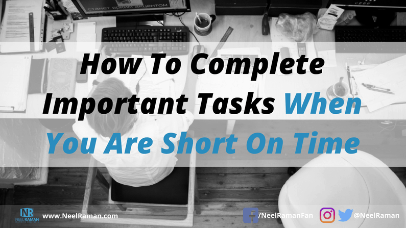 how to get important tasks completed consistently