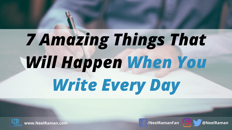 how to form the habit of writing daily