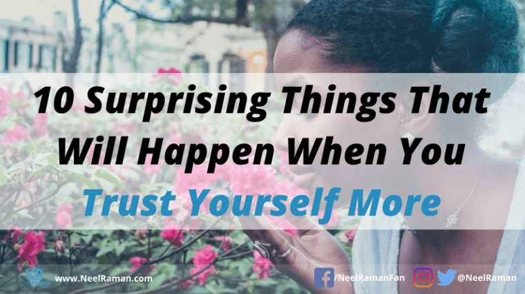 Why you should trust yourself first