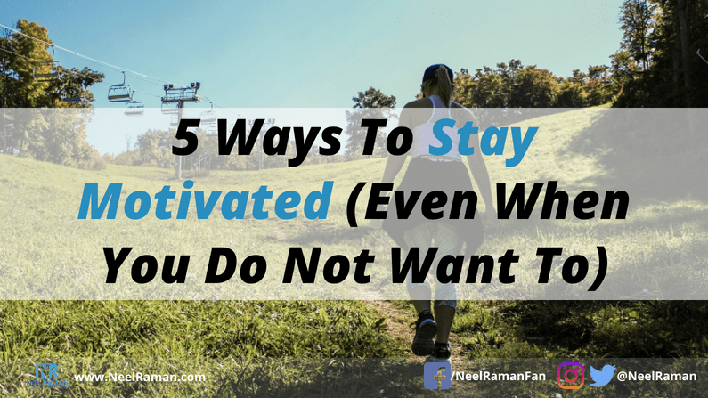 ways to be motivated