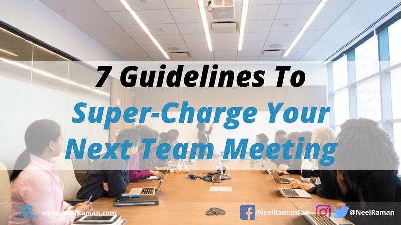 ways to run great team meetings