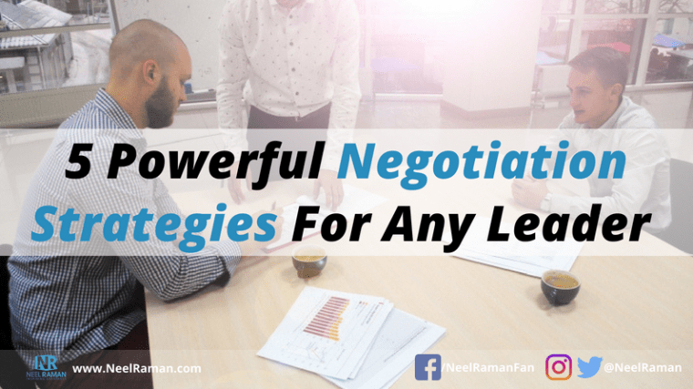 negotiation tips for leaders