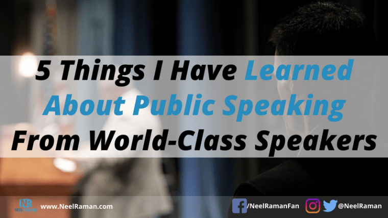 how to be a great speaker