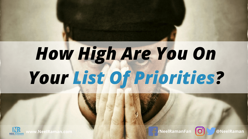 how to prioritise your needs before others